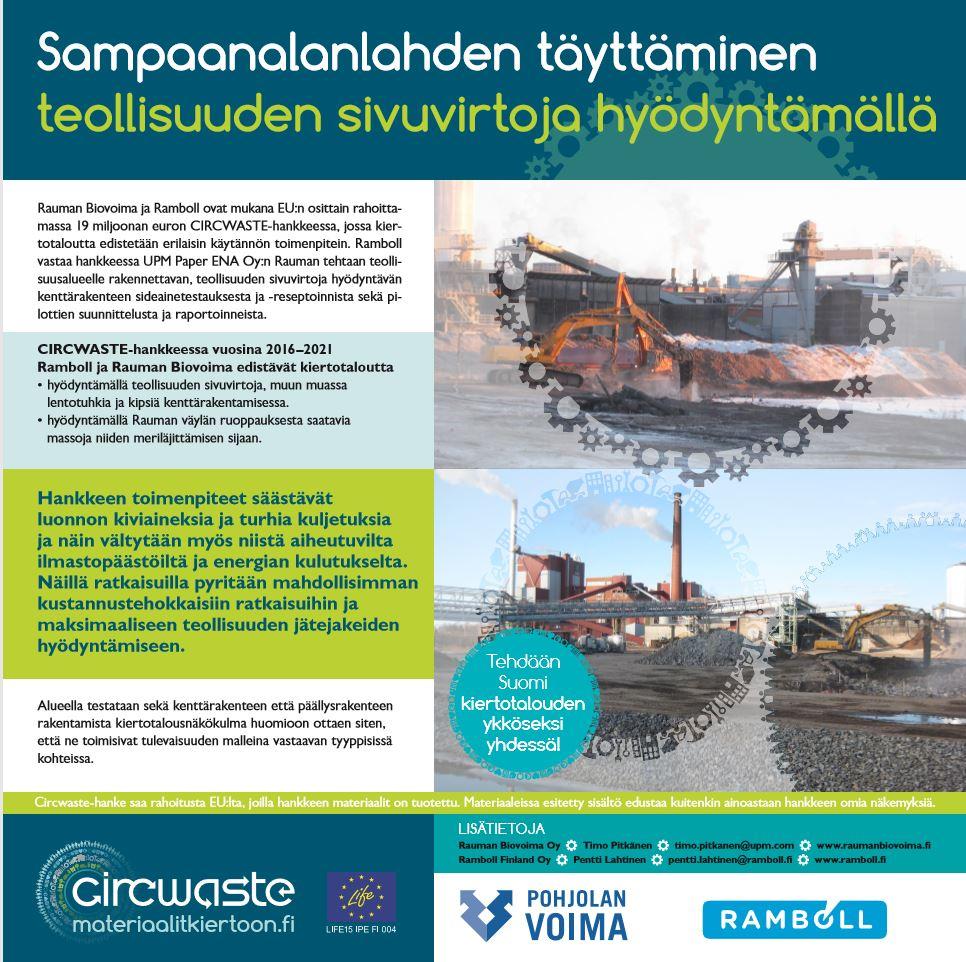 Lue uusi esite: Sampaananlahden täyttäminen teollisuuden sivuvirtoja hyödyntämällä